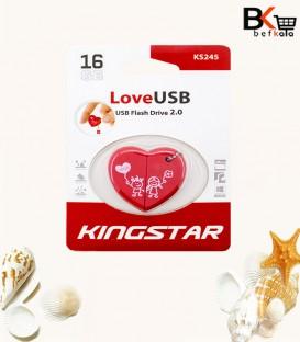 فلش مموری 16 گیگابایت کینگ استار طرح قلبی ویژه ولنتاین مدل Love USB 2.0 KS245