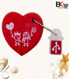 فلش مموری 32 گیگابایت کینگ استار طرح قلبی ویژه ولنتاین مدل Love USB 2.0 KS245