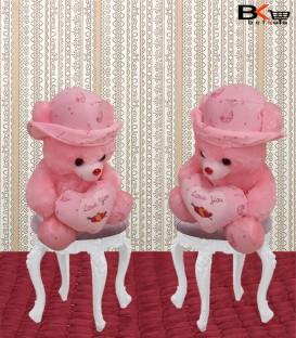 خرس صورتی عروسکی قلبی مخصوص ولنتاین