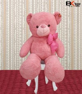 خرس عروسکی صورتی پاپیون دار سایز بزرگ