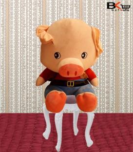 خوک عروسکی کمربنددار سایز بزرگ