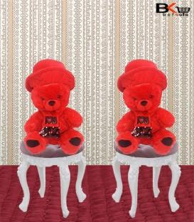 خرس عروسکی کلاه و شال پولک دار