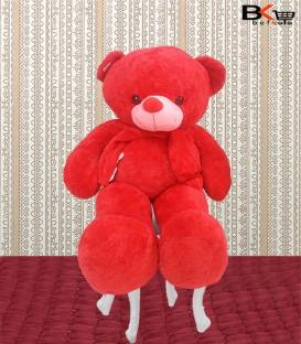 خرس عروسکی شال گردنی قرمز مخصوص ولنتاین سایز بزرگ