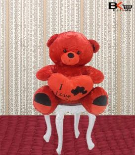 خرس عروسکی سه قلب I LOVE YOY مخصوص ولنتاین سایز بزرگ