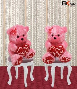 خرس عروسکی صورتی love سایز بزرگ