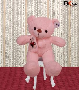 خرس عروسکی صورتی سایز متوسط